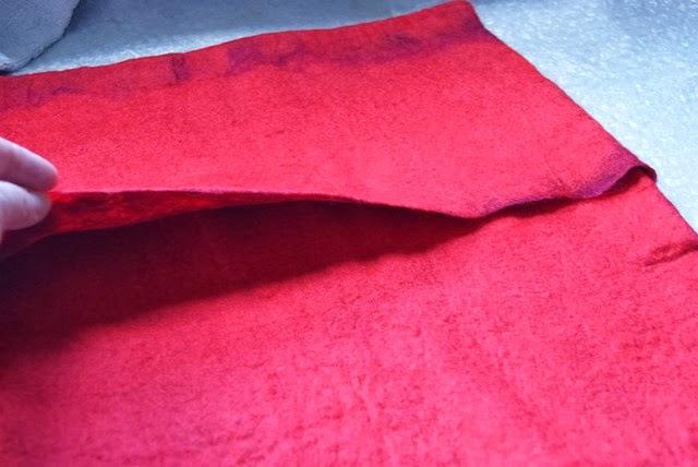 DIY Kissen filzen mit Schlitz