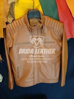Jual Jaket Kulit Asli Garut Pria Domba Original Brida Leather M02 | WA 08813430588