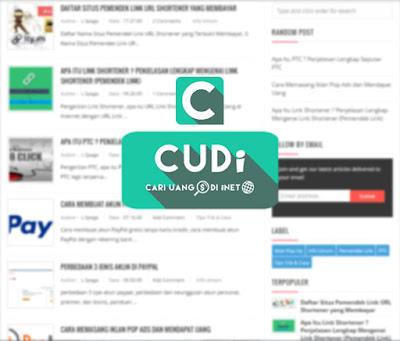 Tampilan Blog CUDi