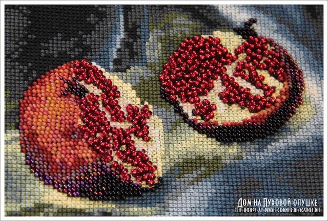 Вышивка бисером натюрморта с фруктами