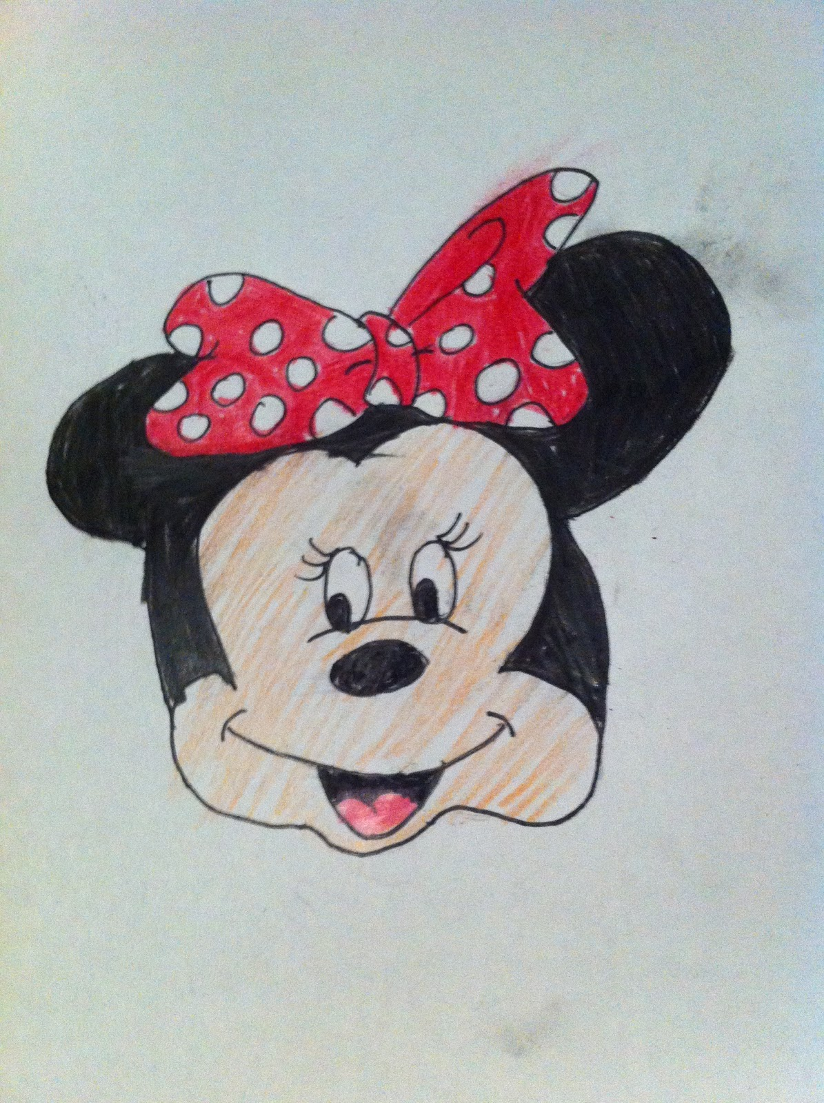 ChantelleLikesArt :): How to draw Minnie Mouse