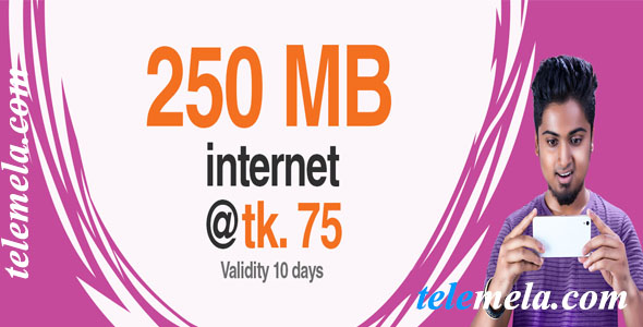 banglalink 250mb internet 75tk