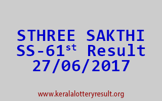 STHREE SAKTHI Lottery SS 61 Results 27-6-2017