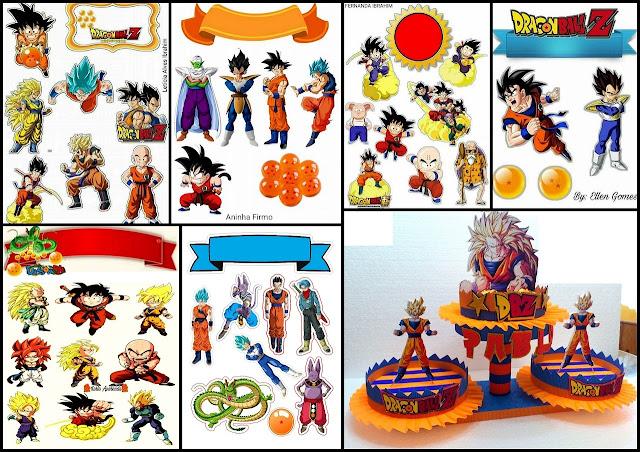 Dragon Ball Z: Free Printable Cake and Cupcake Toppers.
