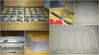 Μηχανές Braille, ανάγλυφα σχήματα σε χαρτί, σχήματα τυφλών και μεταλλικό αλφαβητάρι τυφλών