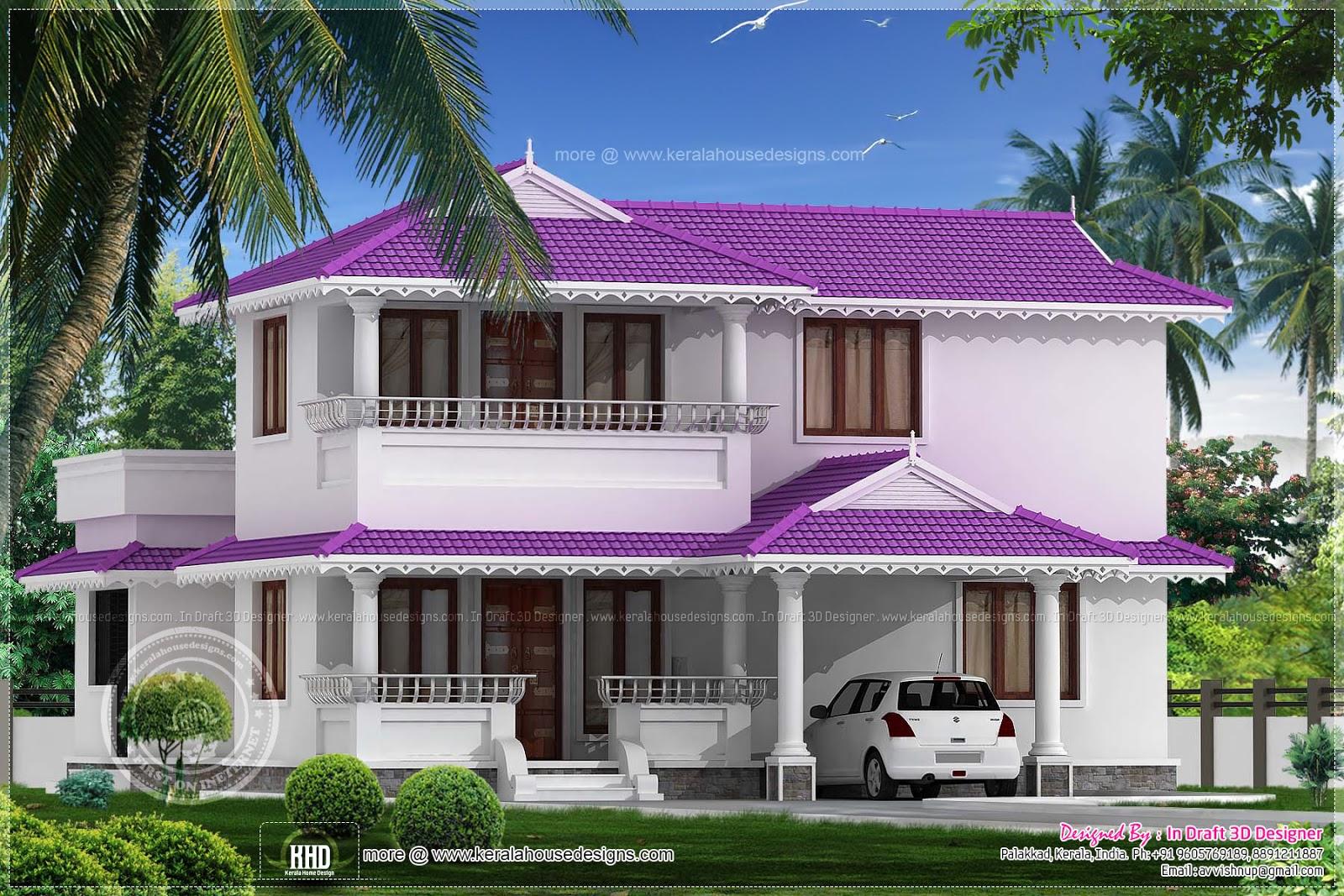 3 bedroom beautiful villa in 1968 sq ft kerala home for Villa floor plans india