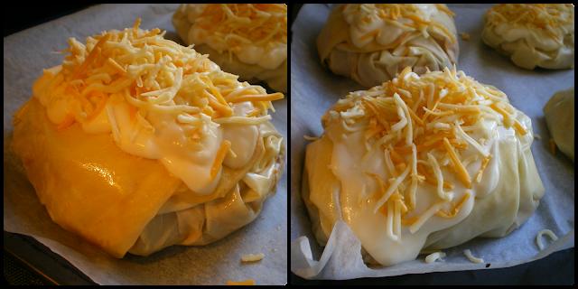 Sultan kebabı:Bechamel y queso