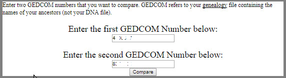 Compare GEDCOMs