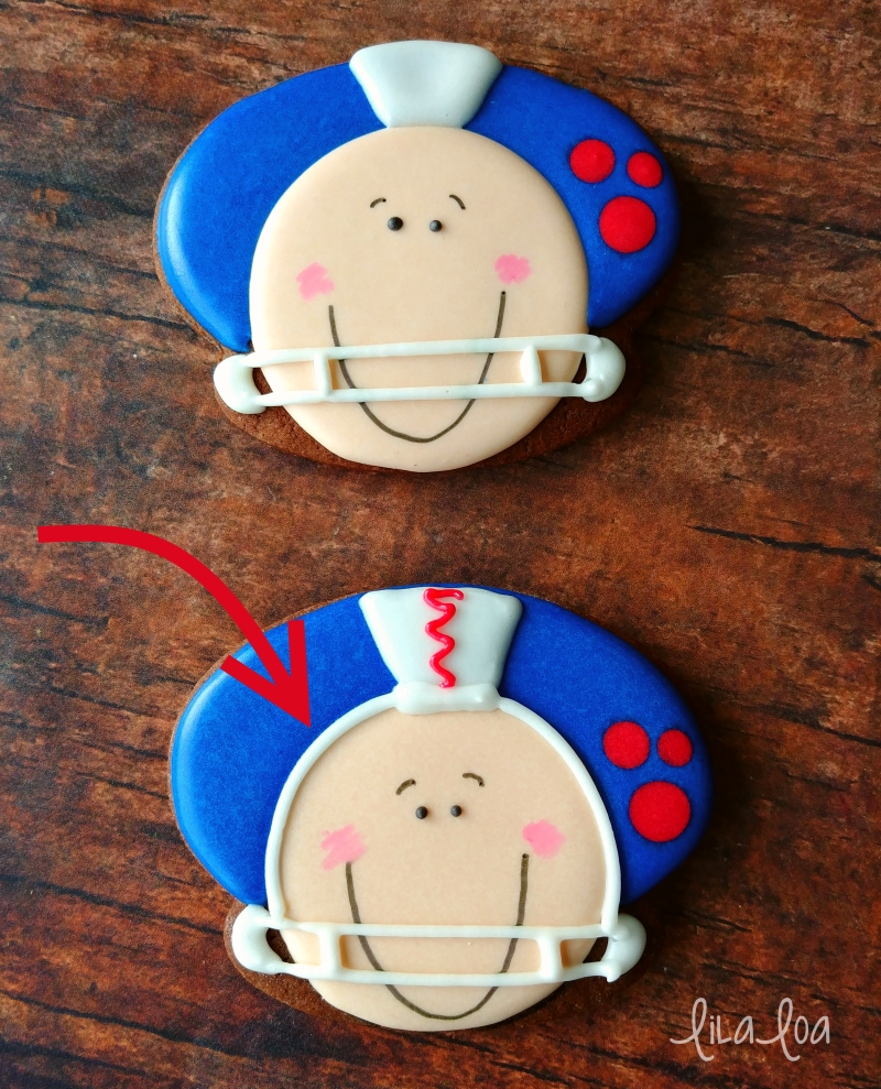 Football player decorated sugar cookies