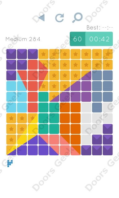 Cheats, Walkthrough for Blocks and Shapes Medium Level 284