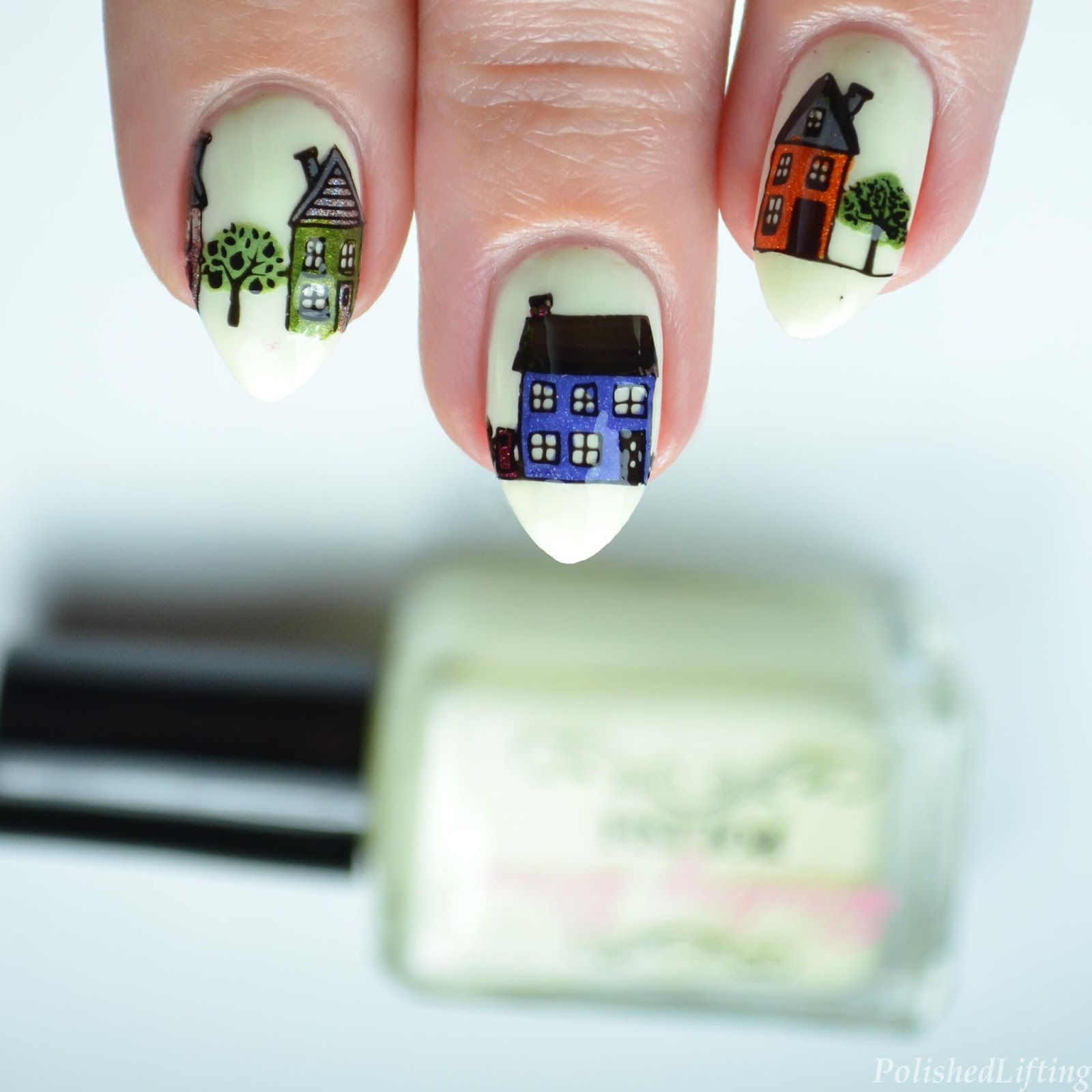Polished Lifting City Nail Art Featuring Moyou London