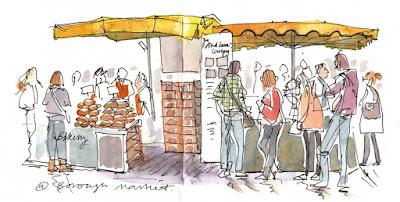 Let's Draw - Borough Market - 7th November 2015