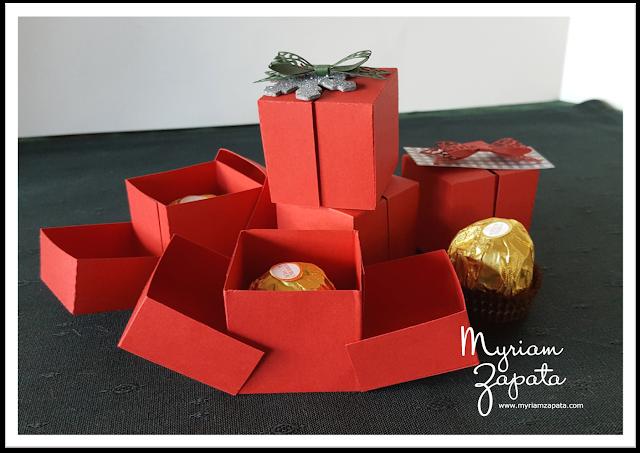 Caja sorpresa sobre mesa