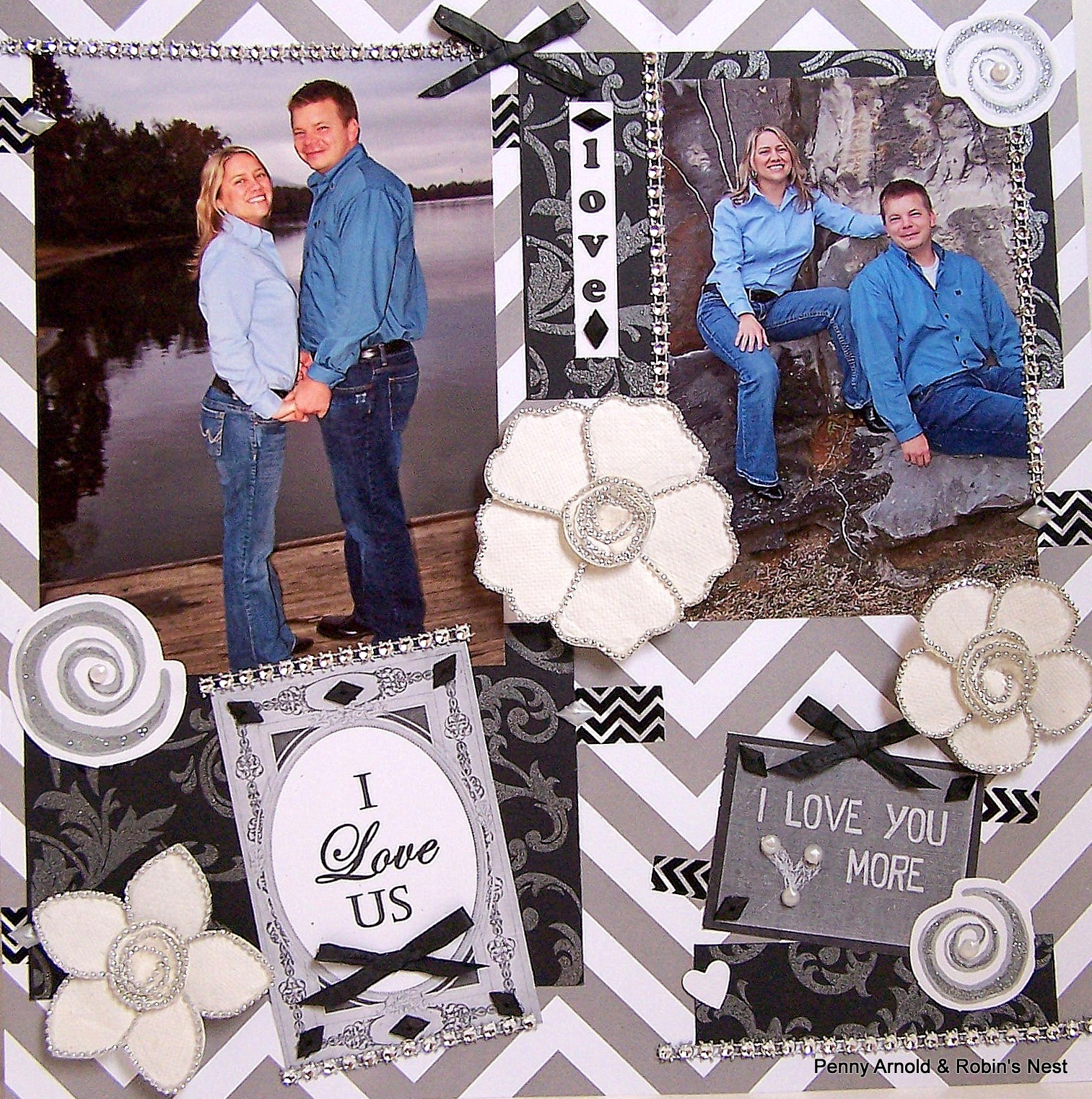 Chattering Robins Super Easy But Beautiful Engagement Scrapbook Pages