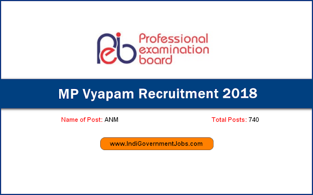 MP Vyapam Recruitment 2018 for ANM posts