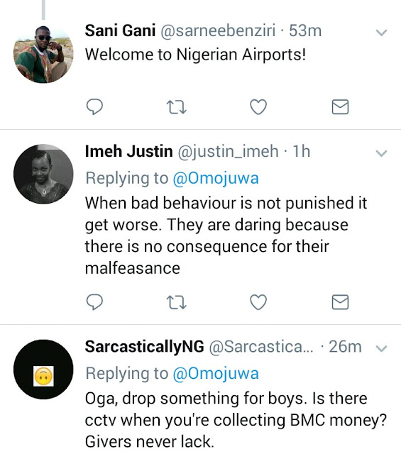 Popular Twitter influencer Omojuwa says he has details of customs officers who extort passengers at airports