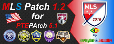 PES 2016 MLS Patch V1.2 for PTEPatch 5.1 by HarleyGnr & JesusHrs