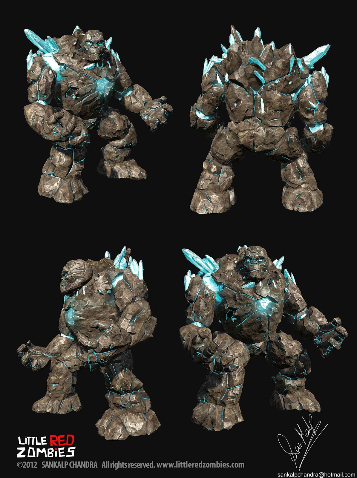 What do you think of my rock golem? - Game Art - Leadwerks