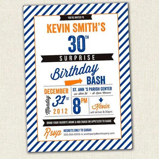 Adult Photo Birthday Invitation 34