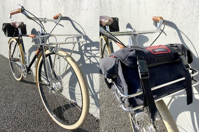 Pashley Guv'nor Velo Orange Porteur Rack and Carradice Super C Saddle Bag