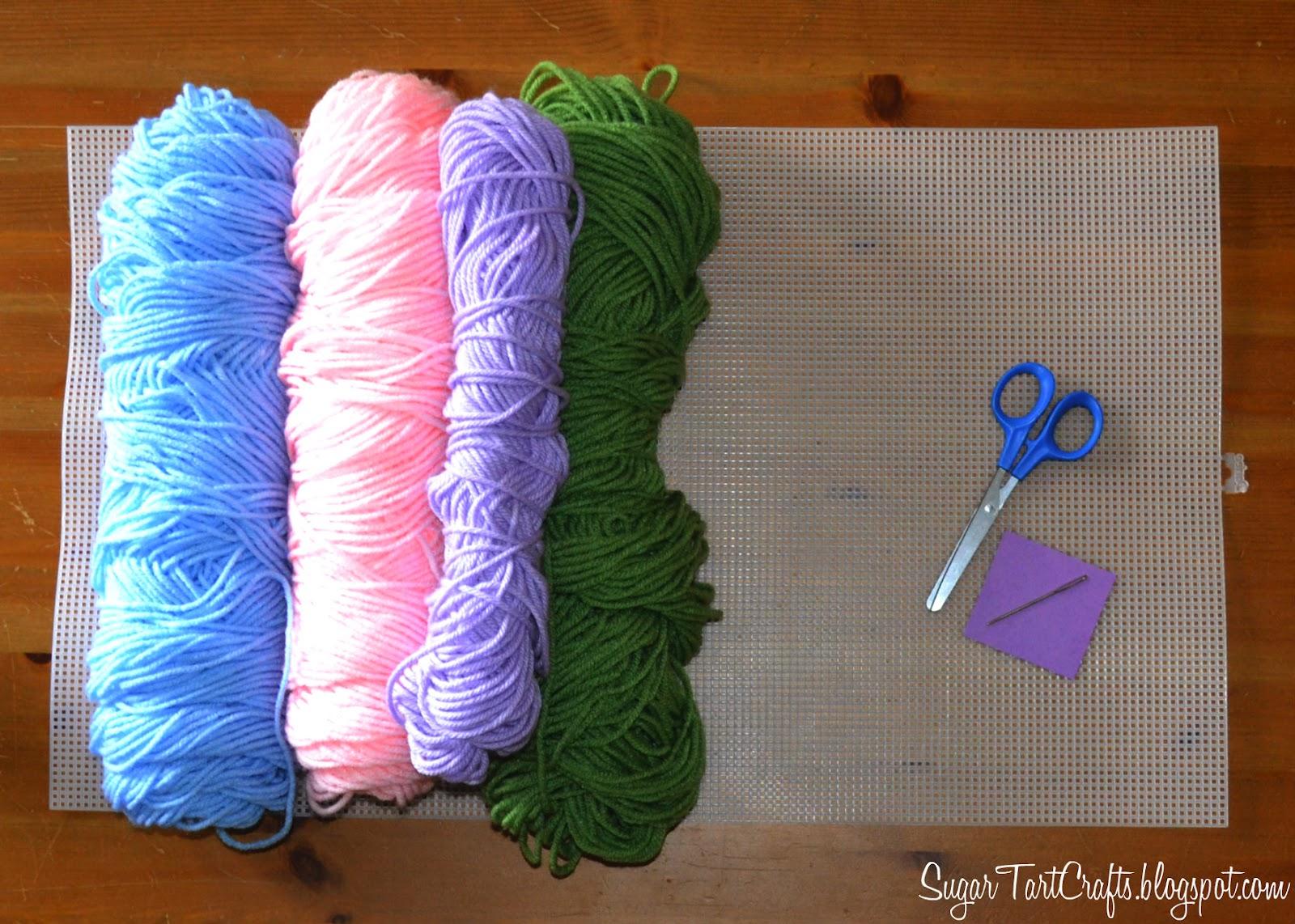 Plastic Canvas Alphabet Stitch And Pink