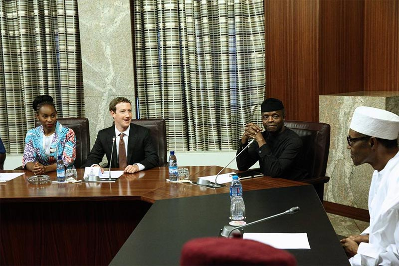 "Photos: Mark Zuckerberg meets president Buhari at ""Aso Villa Demo Day"""
