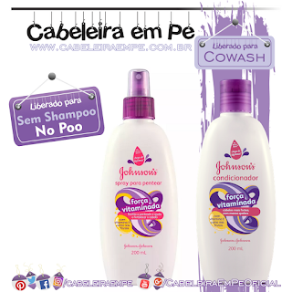 Condicionador e Spray Força Vitaminada - Johnson's Baby (No Poo)