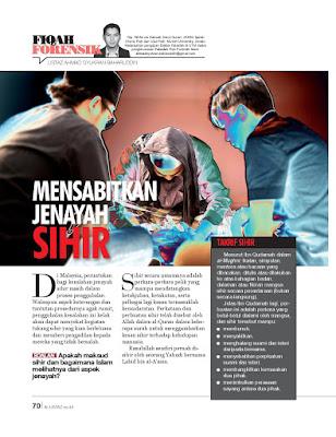 Fiqh Forensik Mensabitkan Jenayah Sihir Majalah al-Ustaz