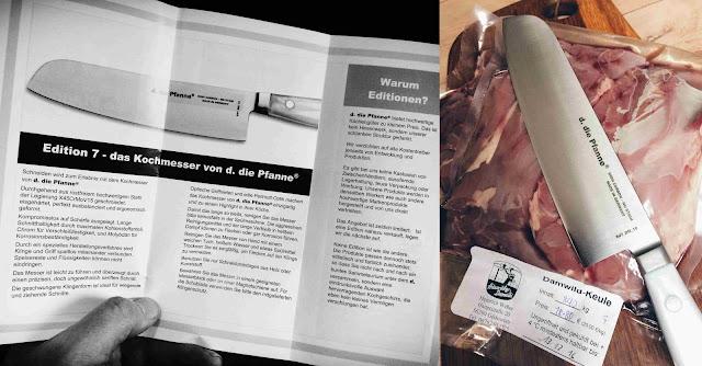 Produktbeschreibung des Messers Edition 7 von d. die pfanne