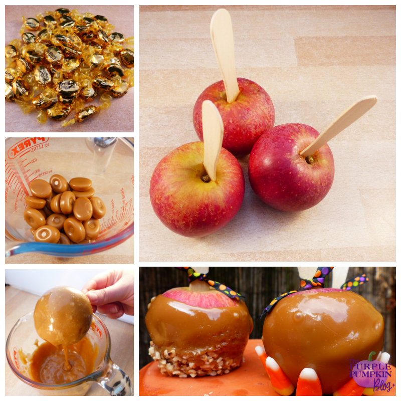 Caramel Candy Apples #Halloween #CraftyOctober