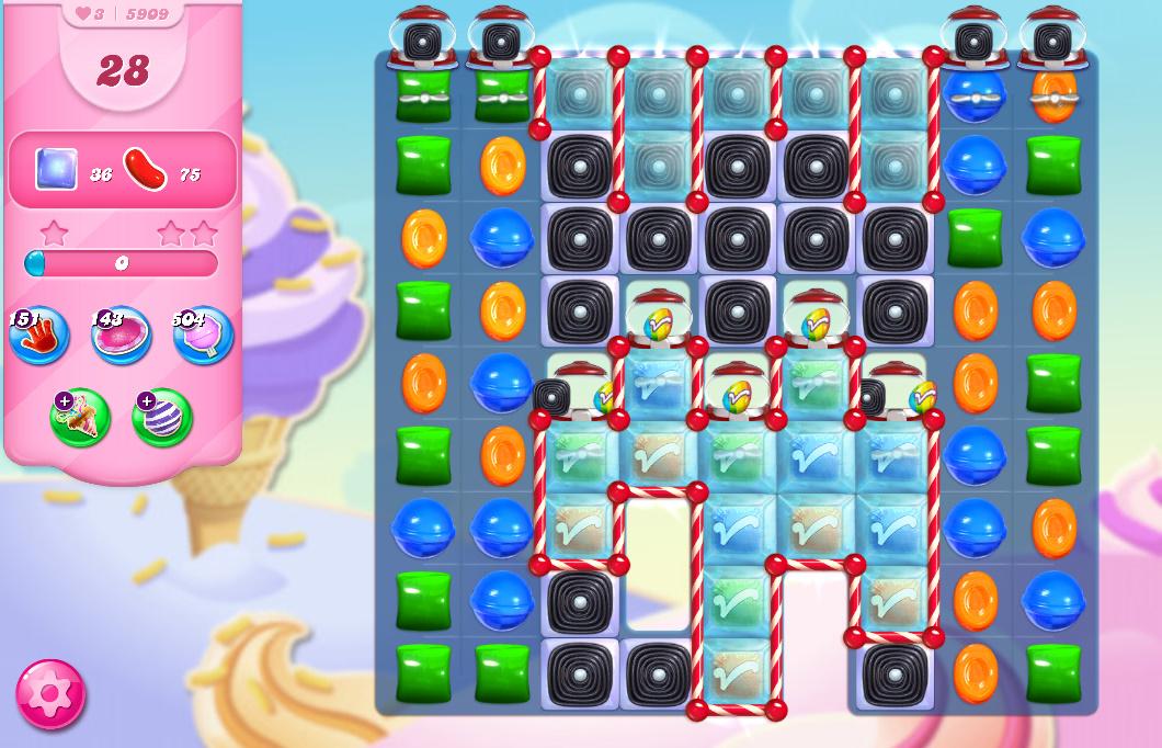Candy Crush Saga level 5909