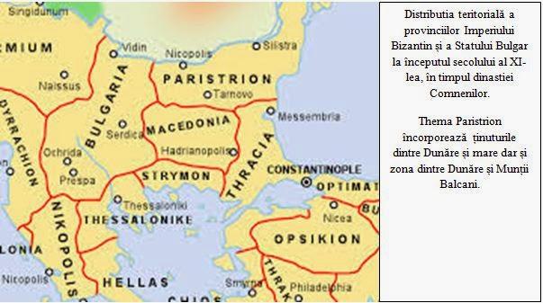Distributia teritoriala a provinciilor Imperiului Bizantin