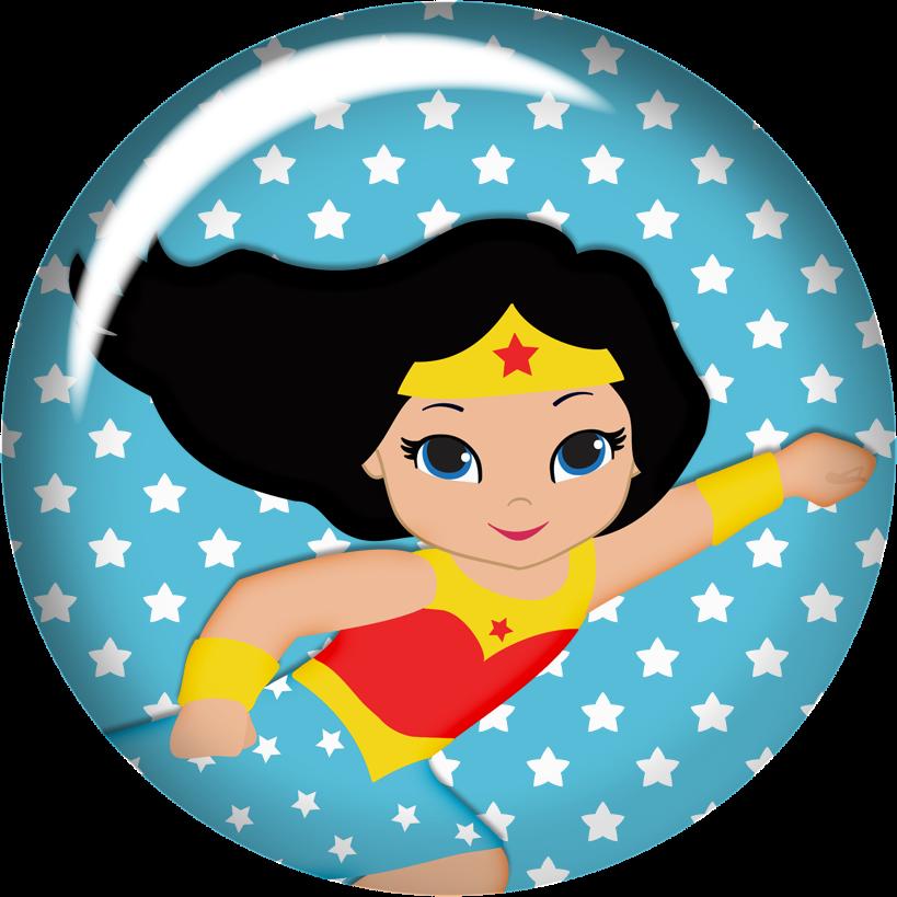 Wonderwoman Baby Clipart.