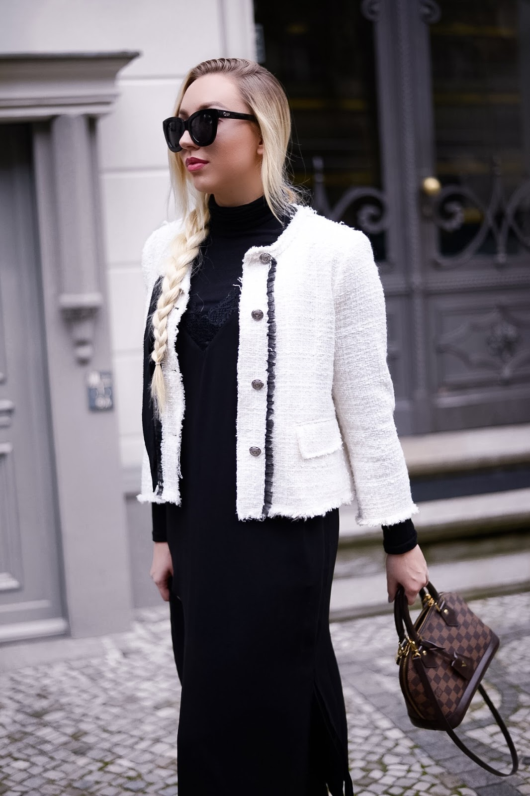 chanel inspired jacket from zara