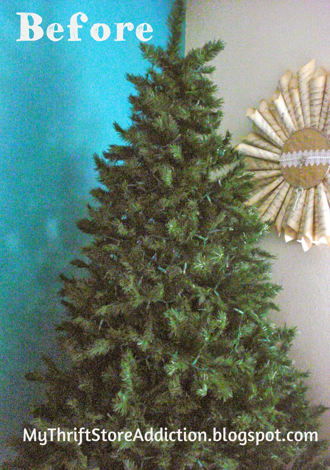 DIY flocked Christmas tree