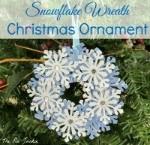 snowflake wreath ornament