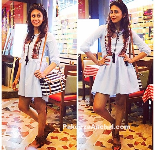 Kishwar Merchant in a Tribal Print Mini Dress