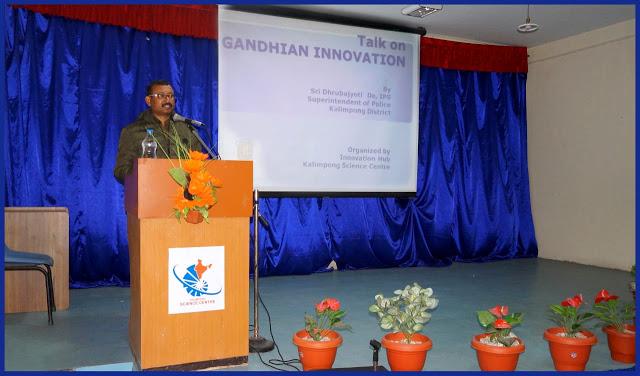 Talk on Gandhiyan Innovation at kalimpong science centre
