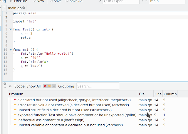 Go support in KDevelop  GSoC week 8  Formatting and linting    Egor