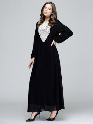 Long Dress Kaftan Muslimah Terbaru Aneka Warna Menggugah Mata