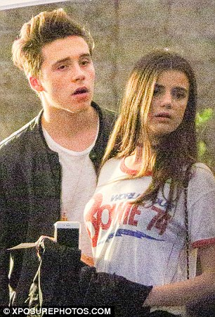 Brooklyn Beckham's New Girlfriend Caresses His Face As They Arrive At Concert