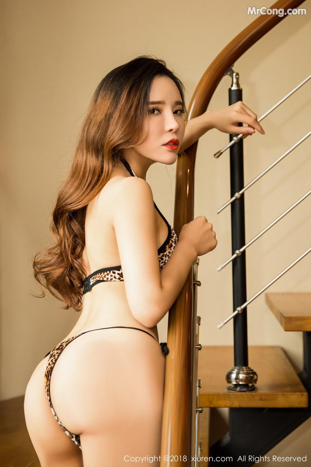 Image XIUREN-No.1276-Ai-Xiao-Qing-MrCong.com-005 in post XIUREN No.1276: Người mẫu Ai Xiao Qing (艾小青) (46 ảnh)
