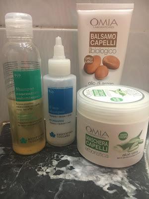 Prodotti per capelli Omia e Biofficina