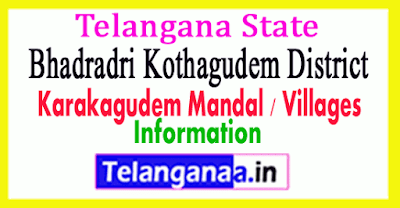 Karakagudem Mandal Villages Bhadradri Kothagudem District Telangana