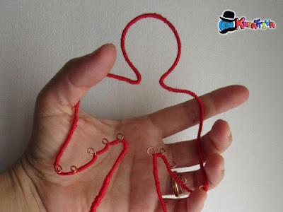 Angelo con filo di cotone