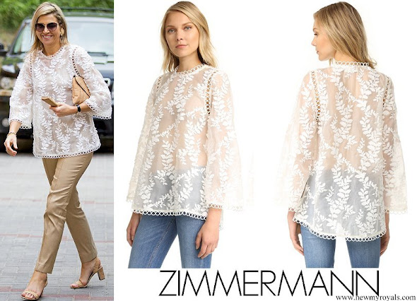 Queen Maxima wore Zimmermann Winsome Vine Blouse