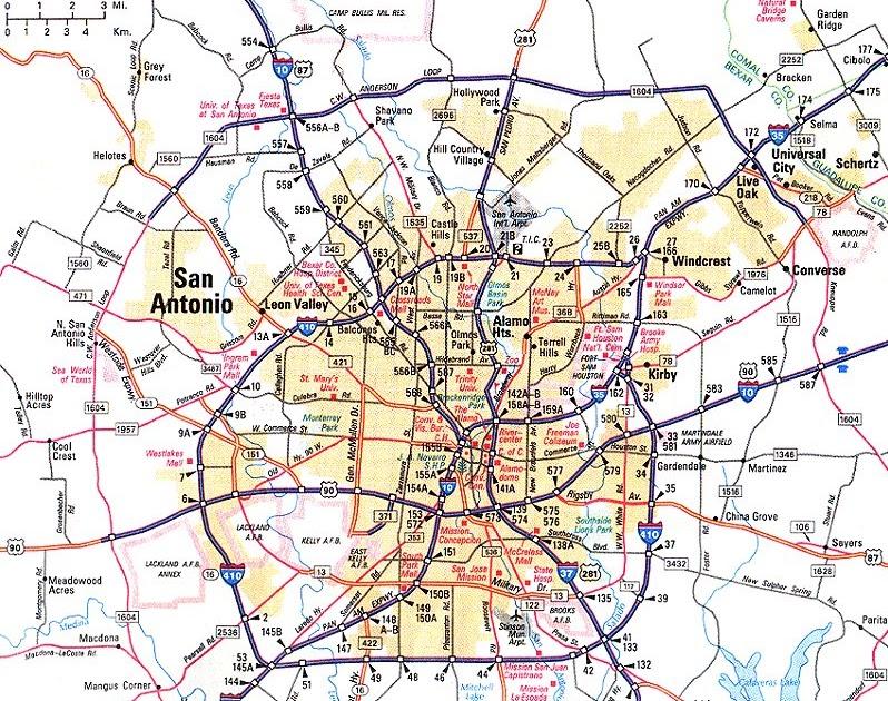 Maps Of Dallas San Antonio Map
