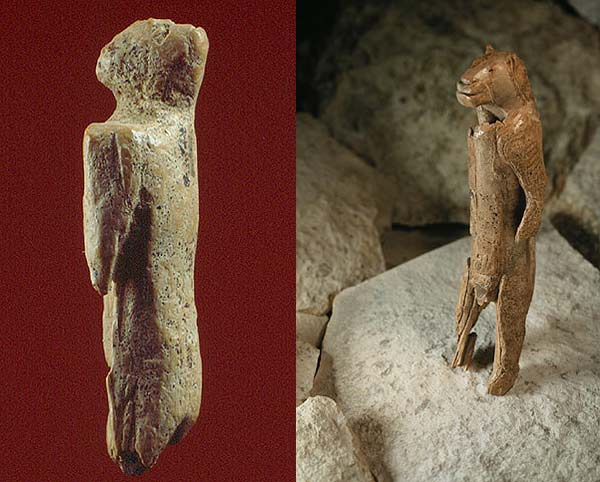 Lion Man Cave Art : Missing parts of years old sculpture found in german cave