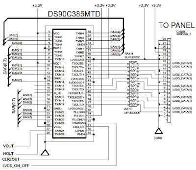 Hình 29c - Mạch LVDS điều khiển trực tiếp màn hình