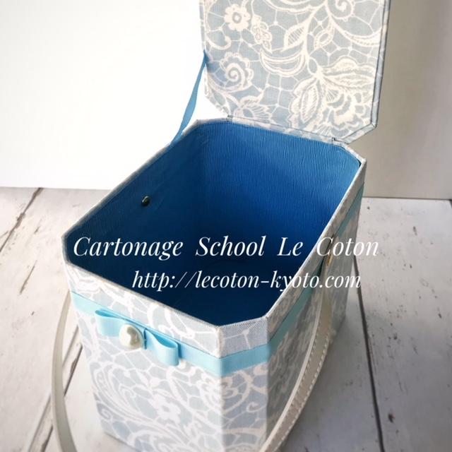 カルトナージュ教室:メイクボックス